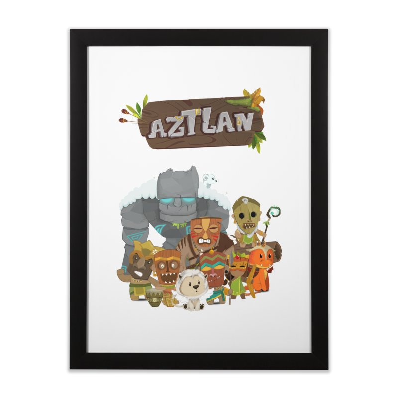 Aztlan - All Characters Home Framed Fine Art Print by Mimundogames's Artist Shop