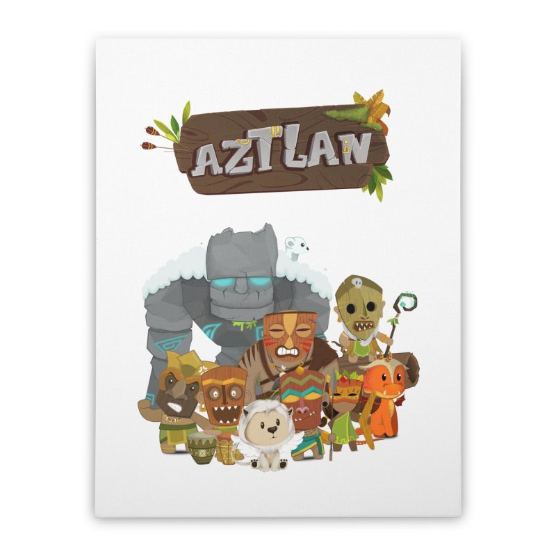Aztlan - All Characters Home Stretched Canvas by Mimundogames's Artist Shop