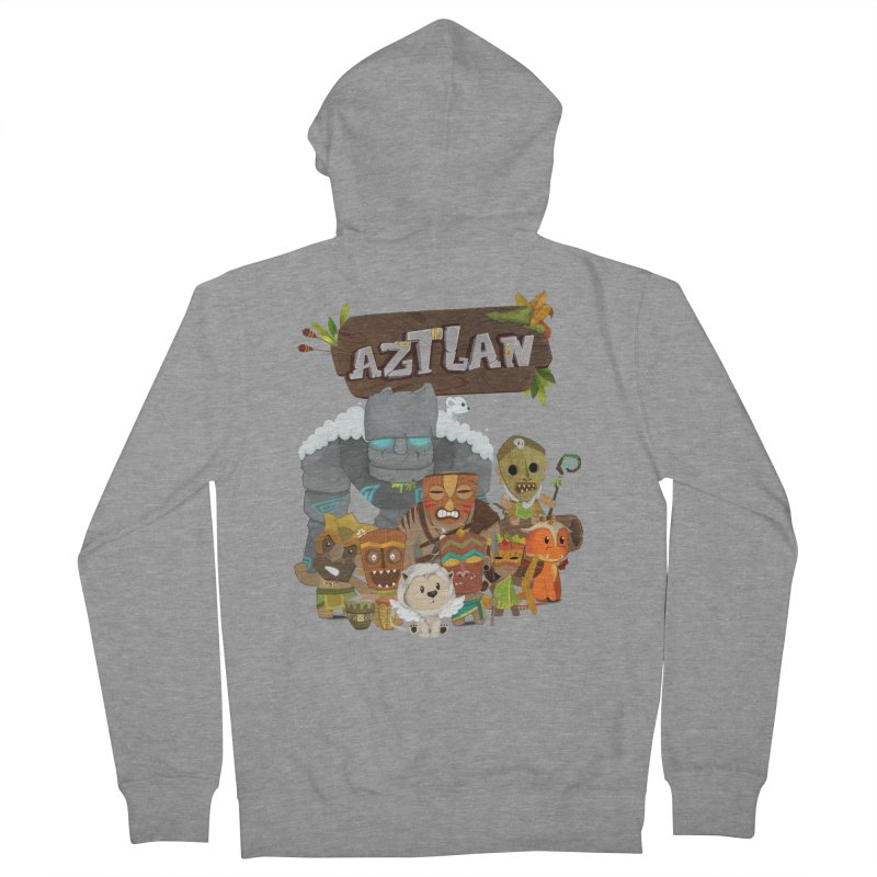 Aztlan - All Characters Men's Zip-Up Hoody by Mimundogames's Artist Shop
