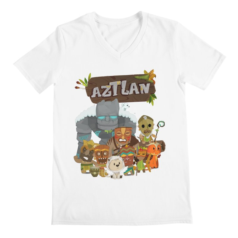 Aztlan - All Characters Men's V-Neck by Mimundogames's Artist Shop