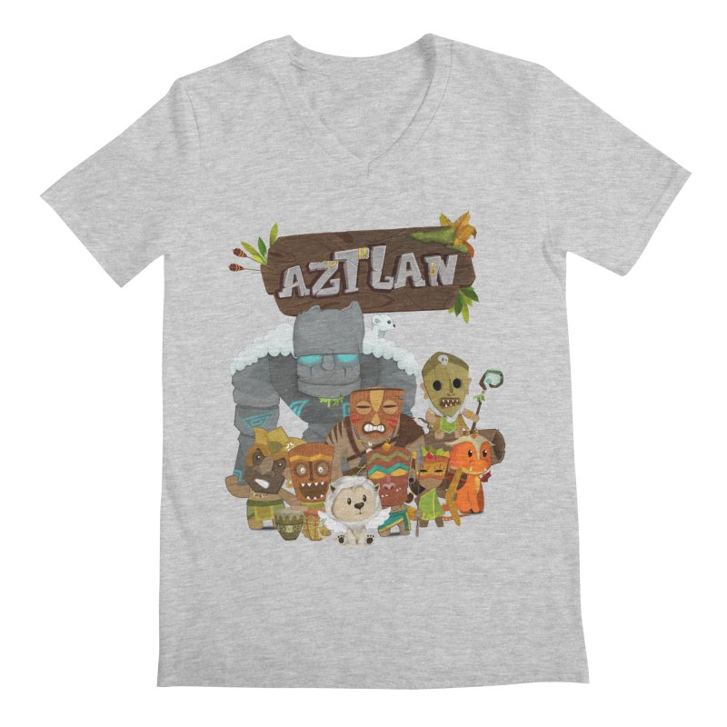 Aztlan - All Characters Men's V-Neck by Mimundogames's Artist Shop