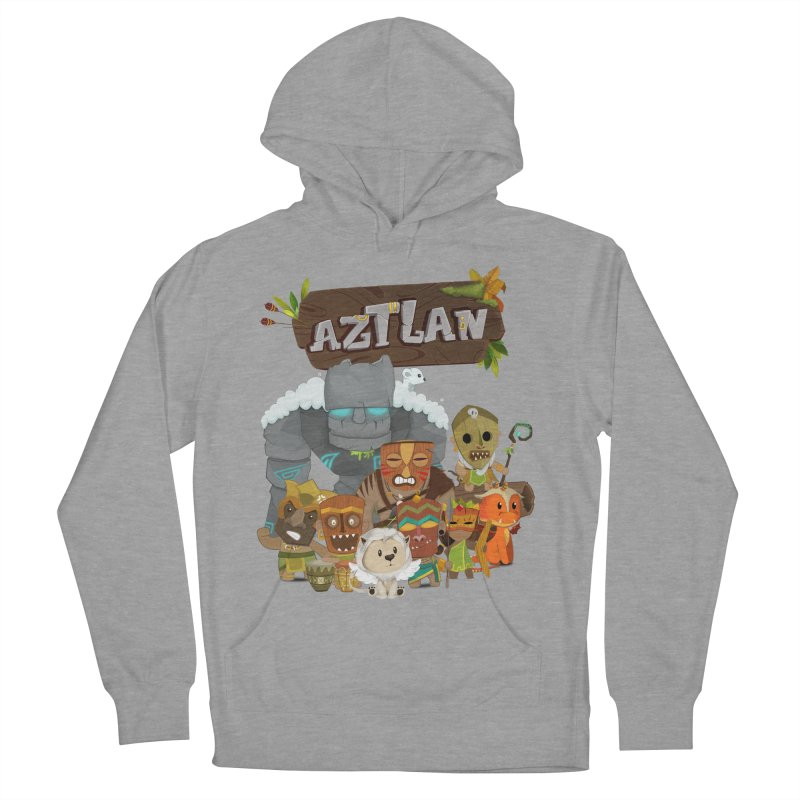 Aztlan - All Characters Men's French Terry Pullover Hoody by Mimundogames's Artist Shop