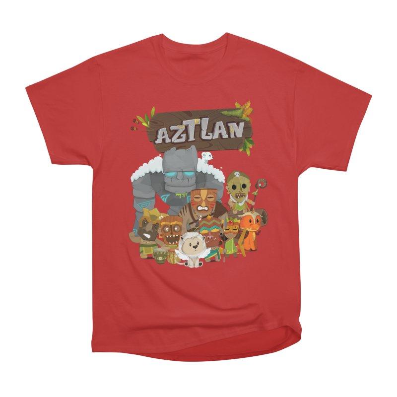 Aztlan - All Characters Men's Heavyweight T-Shirt by Mimundogames's Artist Shop