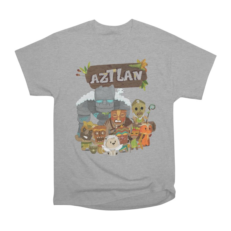 Aztlan - All Characters Men's Heavyweight T-Shirt by Mimundogames's Artist Shop