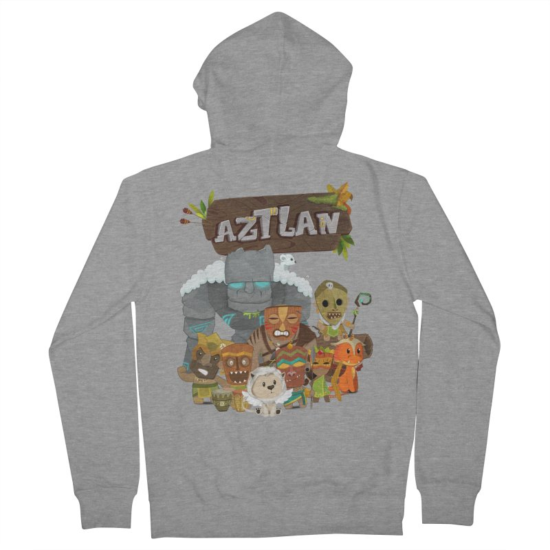 Aztlan - All Characters Women's French Terry Zip-Up Hoody by Mimundogames's Artist Shop