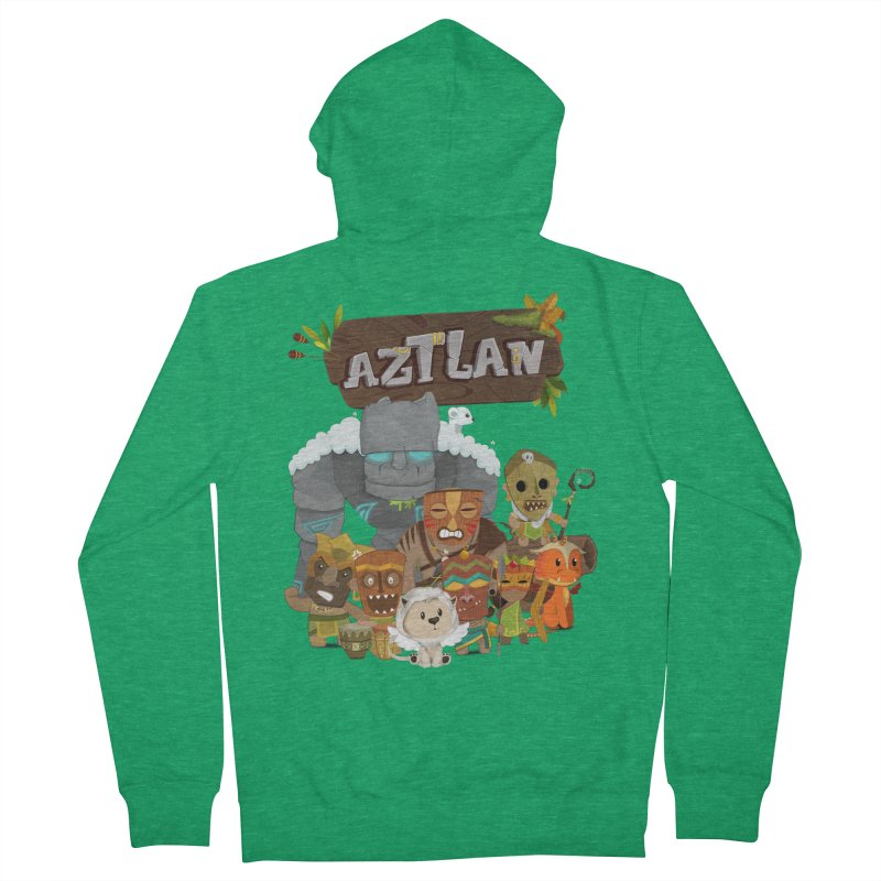 Aztlan - All Characters Men's Zip-Up Hoody by Mimundogames's Artist Shop