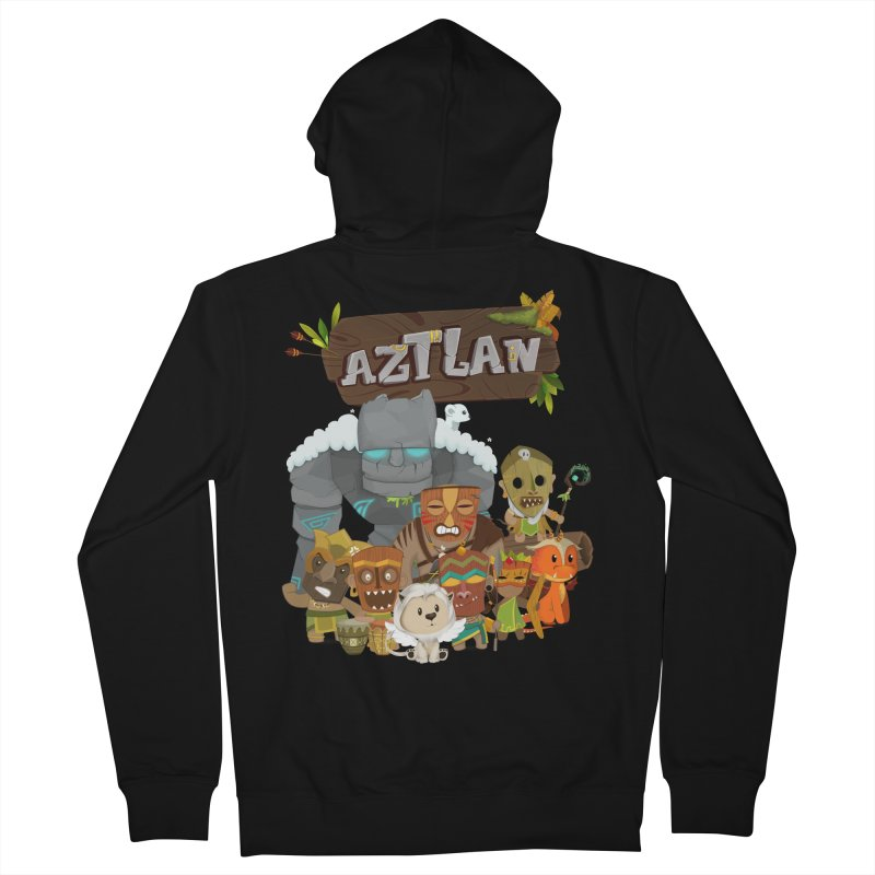 Aztlan - All Characters Men's French Terry Zip-Up Hoody by Mimundogames's Artist Shop