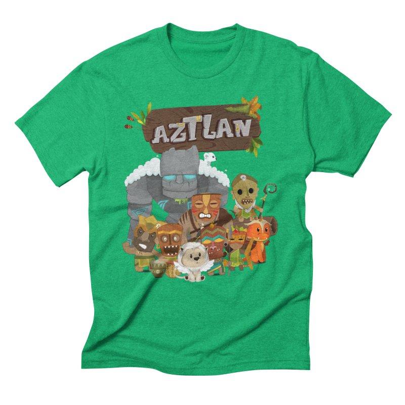 Aztlan - All Characters Men's Triblend T-Shirt by Mimundogames's Artist Shop