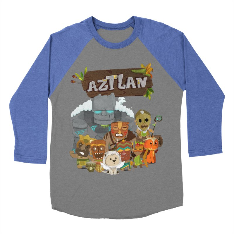 Aztlan - All Characters Men's Baseball Triblend Longsleeve T-Shirt by Mimundogames's Artist Shop