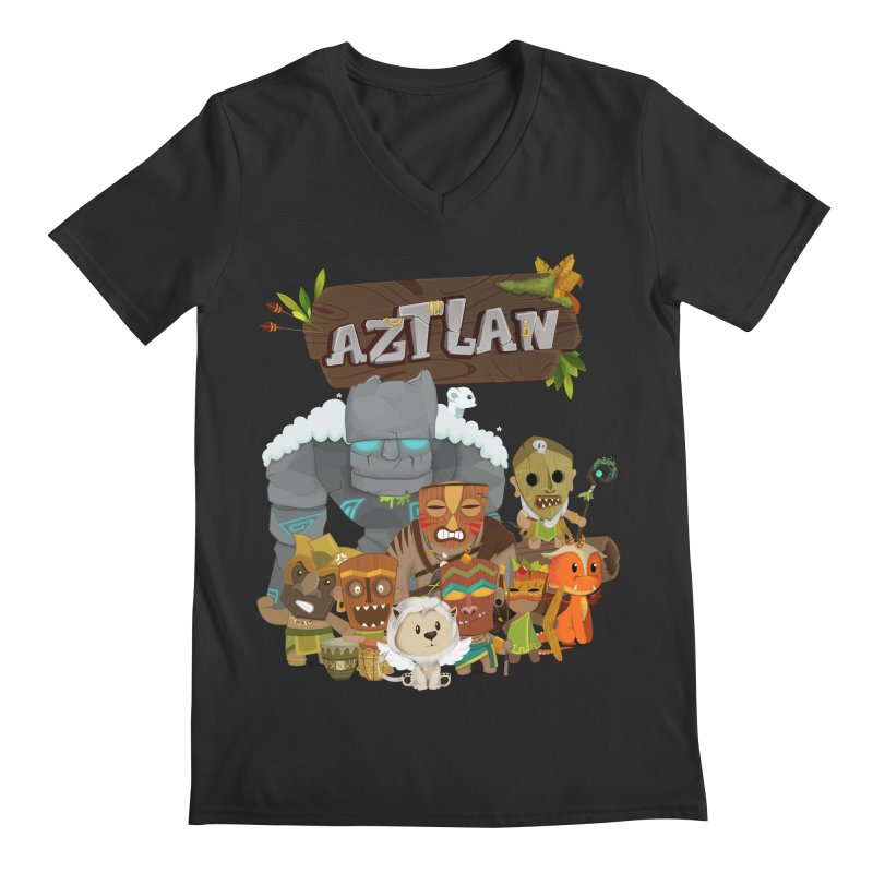 Aztlan - All Characters Men's Regular V-Neck by Mimundogames's Artist Shop
