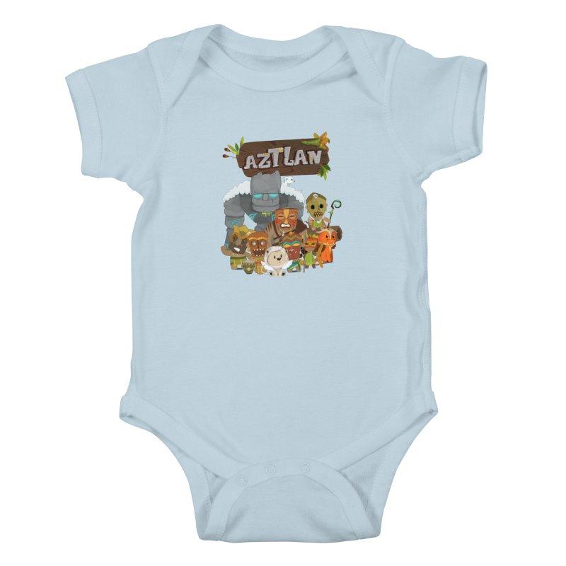 Aztlan - All Characters Kids Baby Bodysuit by Mimundogames's Artist Shop