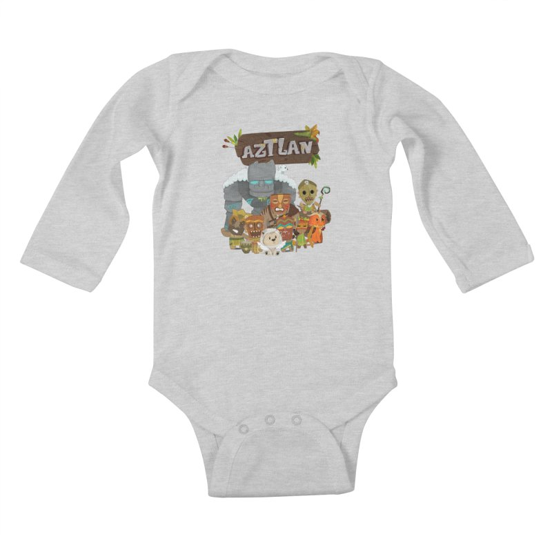 Aztlan - All Characters Kids Baby Longsleeve Bodysuit by Mimundogames's Artist Shop