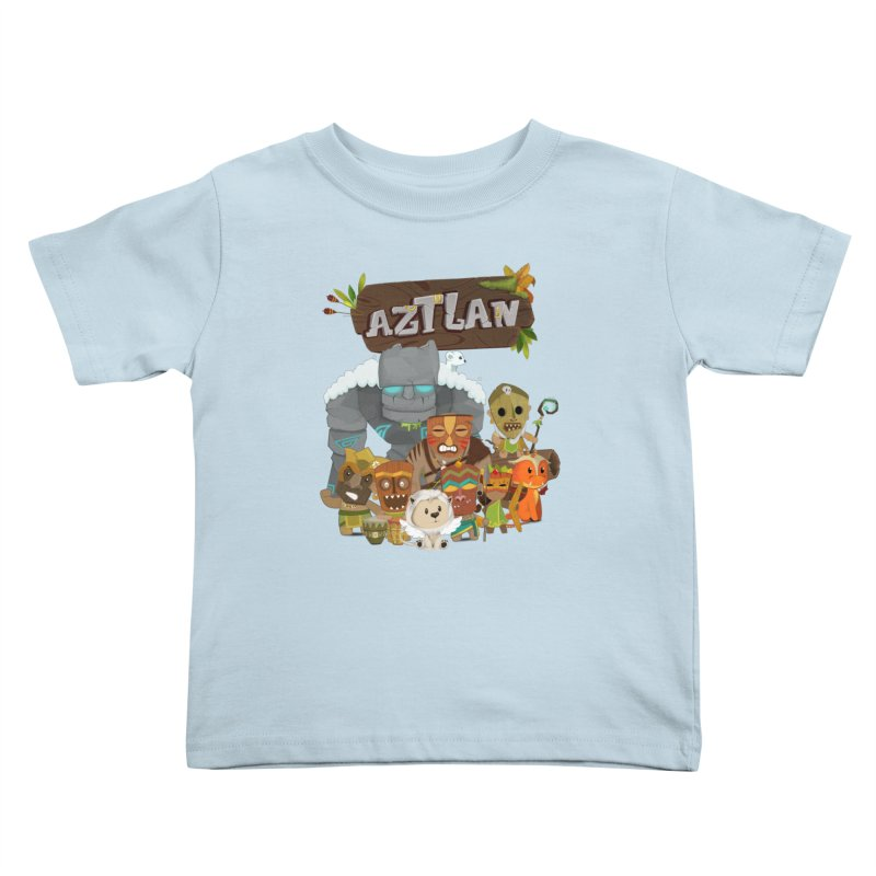 Aztlan - All Characters Kids Toddler T-Shirt by Mimundogames's Artist Shop