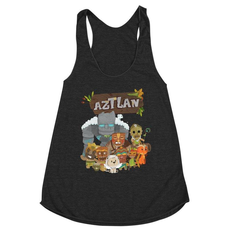 Aztlan - All Characters Women's Racerback Triblend Tank by Mimundogames's Artist Shop