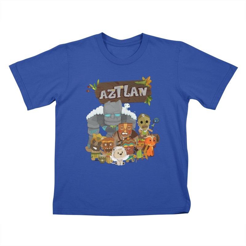 Aztlan - All Characters Kids T-Shirt by Mimundogames's Artist Shop
