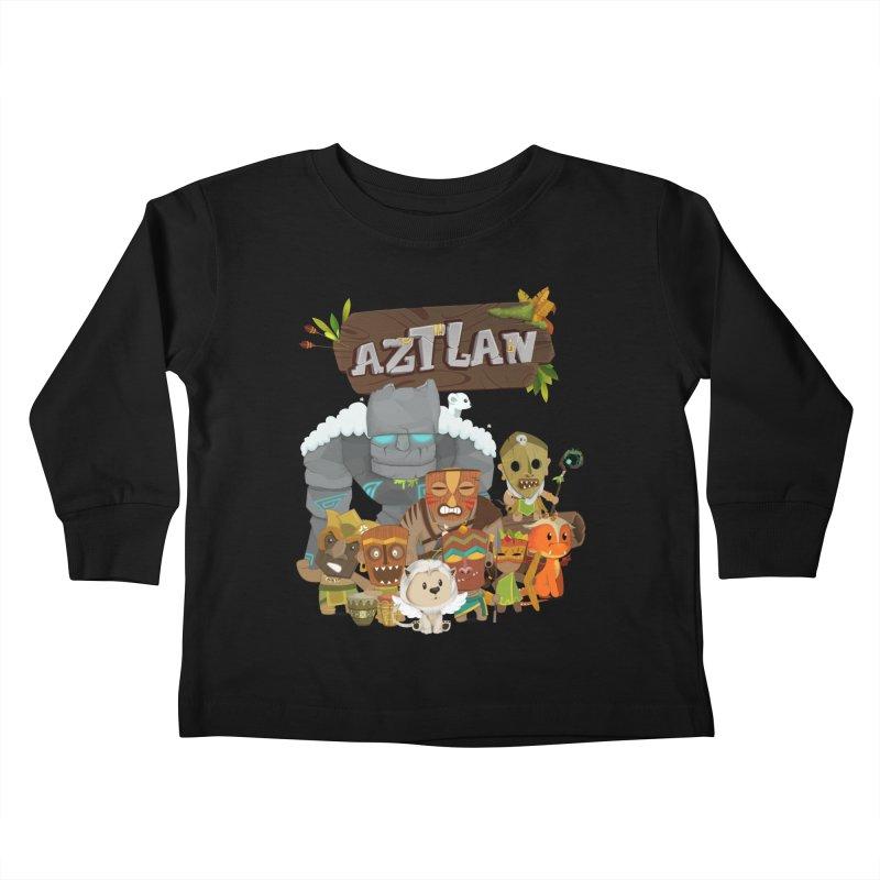 Aztlan - All Characters Kids Toddler Longsleeve T-Shirt by Mimundogames's Artist Shop
