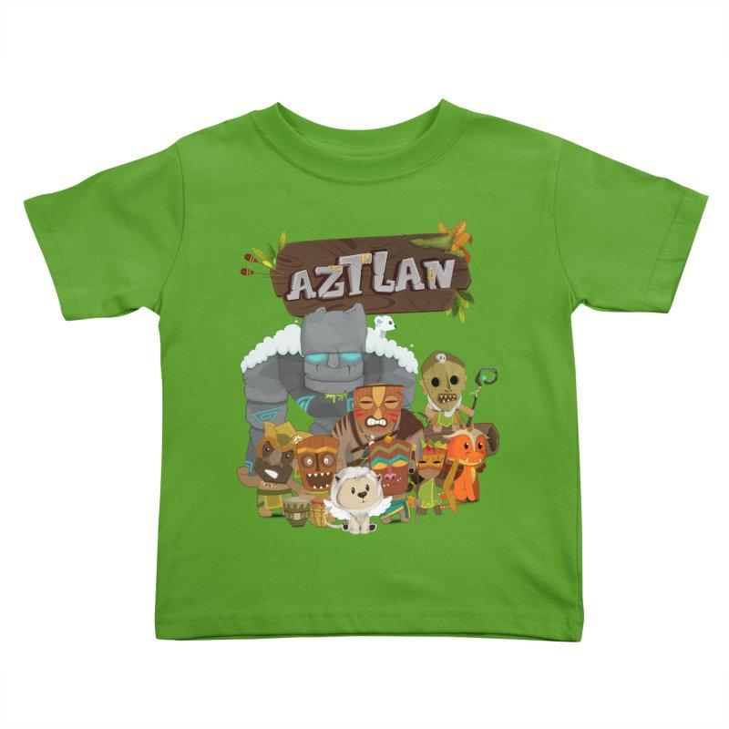 Aztlan - All Characters Kids Toddler T-Shirt by Mimundogames's Artist Shop