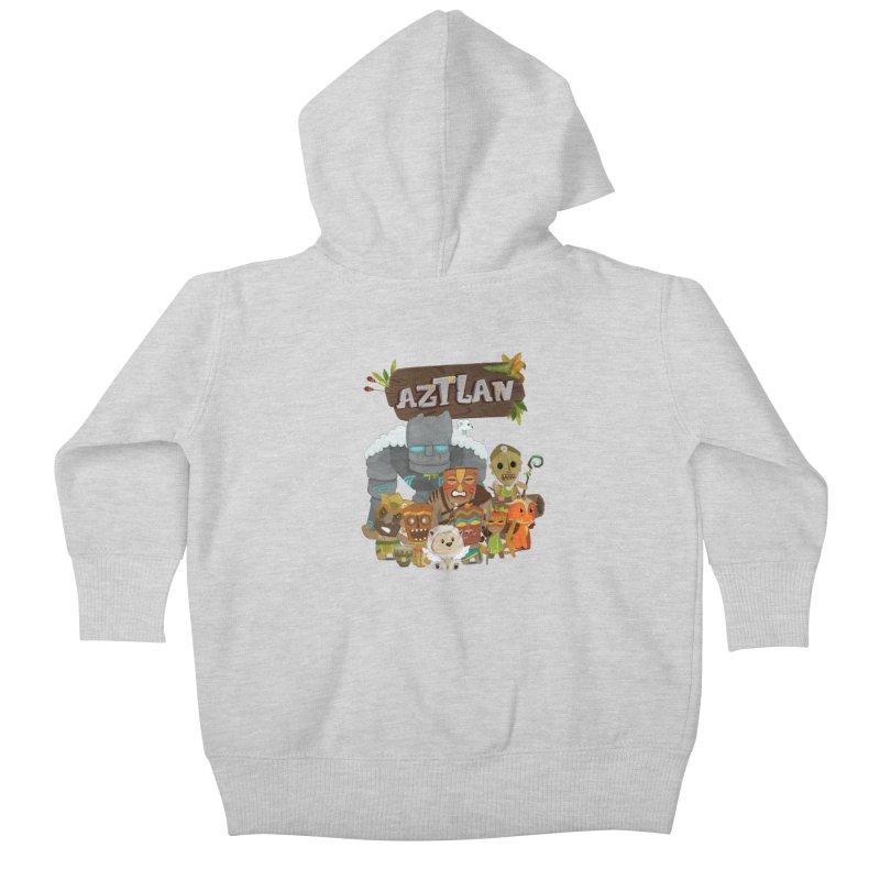Aztlan - All Characters Kids Baby Zip-Up Hoody by Mimundogames's Artist Shop