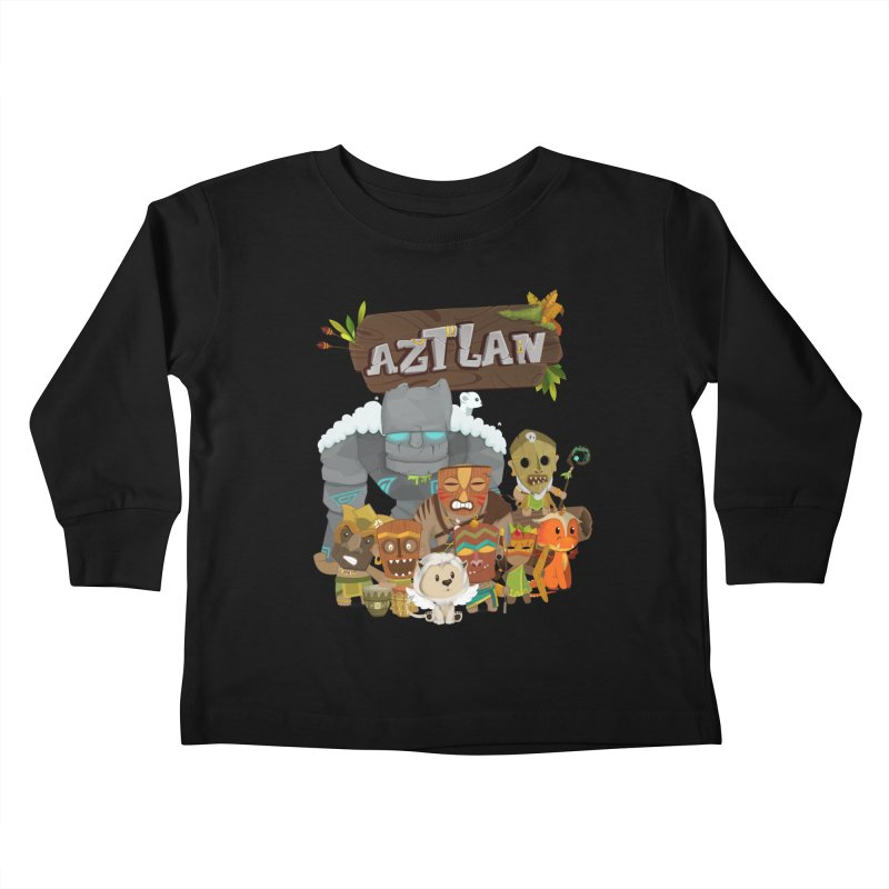 Aztlan - All Characters Kids Toddler Longsleeve T-Shirt by Mimundogames's Artist Shop