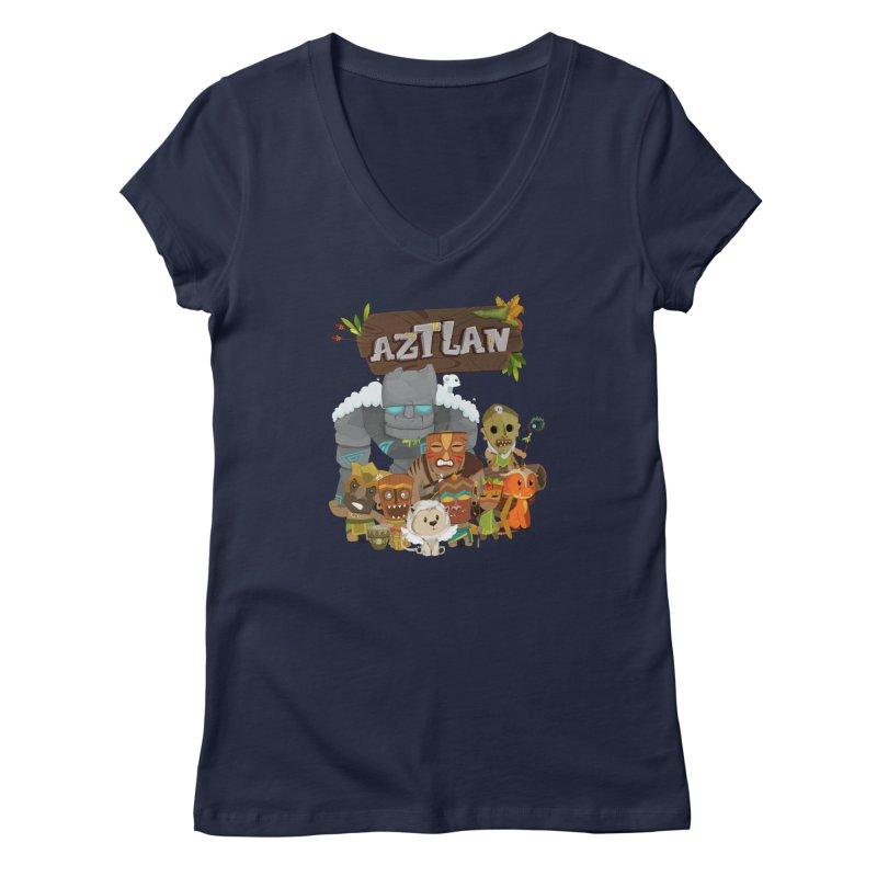 Aztlan - All Characters Women's Regular V-Neck by Mimundogames's Artist Shop