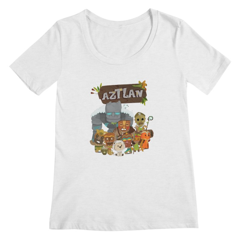 Aztlan - All Characters Women's Regular Scoop Neck by Mimundogames's Artist Shop