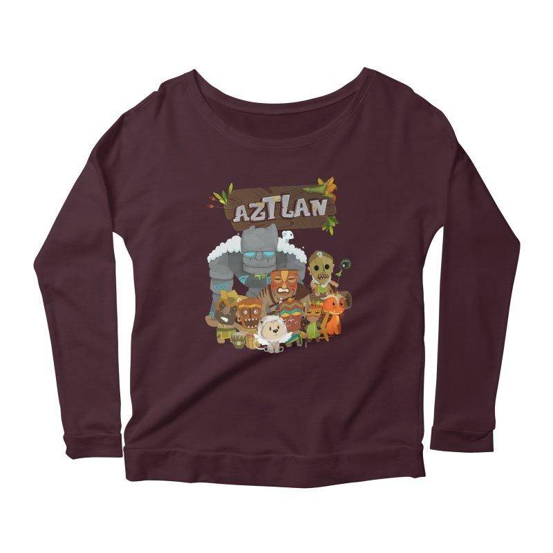 Aztlan - All Characters Women's Longsleeve T-Shirt by Mimundogames's Artist Shop