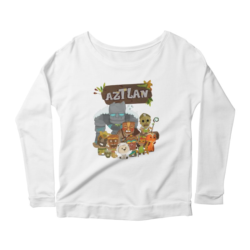 Aztlan - All Characters Women's Scoop Neck Longsleeve T-Shirt by Mimundogames's Artist Shop