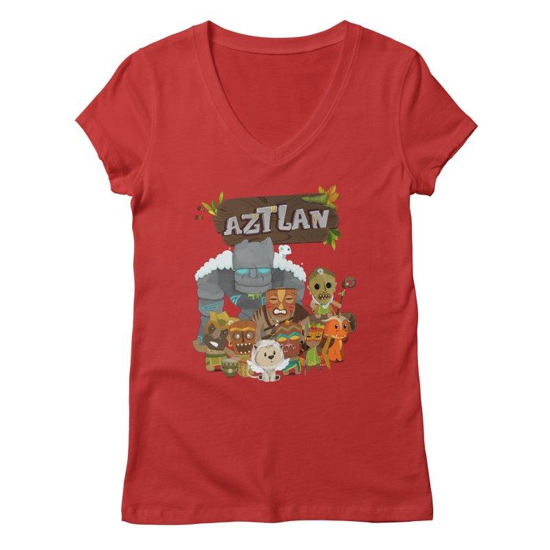 Aztlan - All Characters Women's V-Neck by Mimundogames's Artist Shop