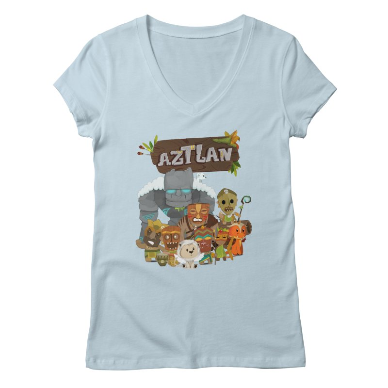 Aztlan - All Characters Women's V-Neck by Mimundogames's Artist Shop