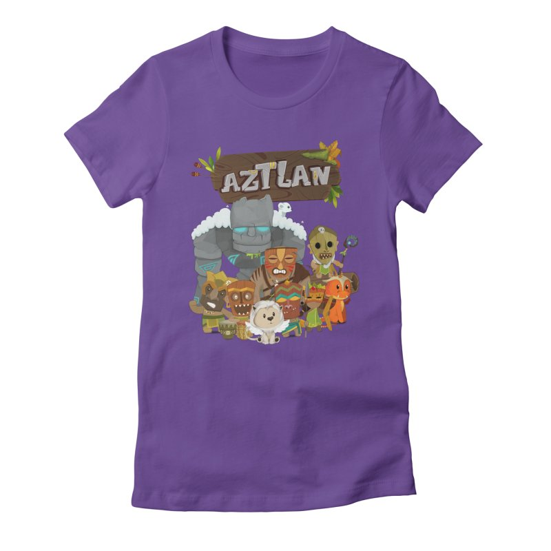 Aztlan - All Characters Women's Fitted T-Shirt by Mimundogames's Artist Shop