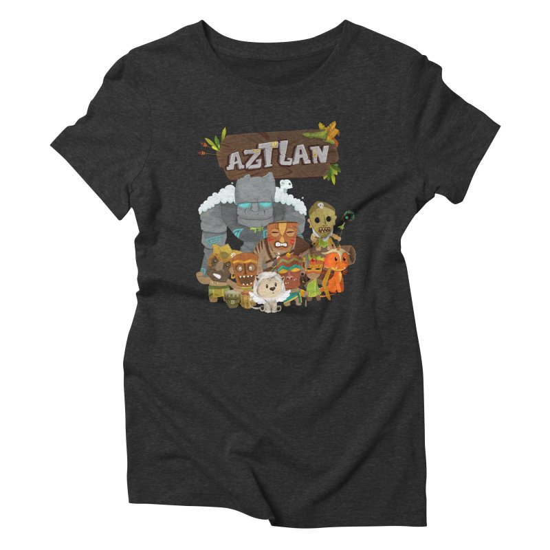Aztlan - All Characters Women's Triblend T-Shirt by Mimundogames's Artist Shop