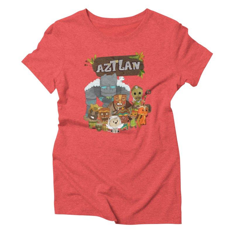 Aztlan - All Characters Women's Triblend T-Shirt by Mimundogames's Artist Shop