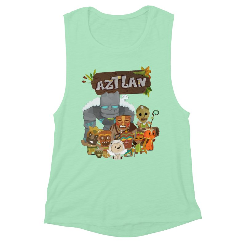 Aztlan - All Characters Women's Muscle Tank by Mimundogames's Artist Shop