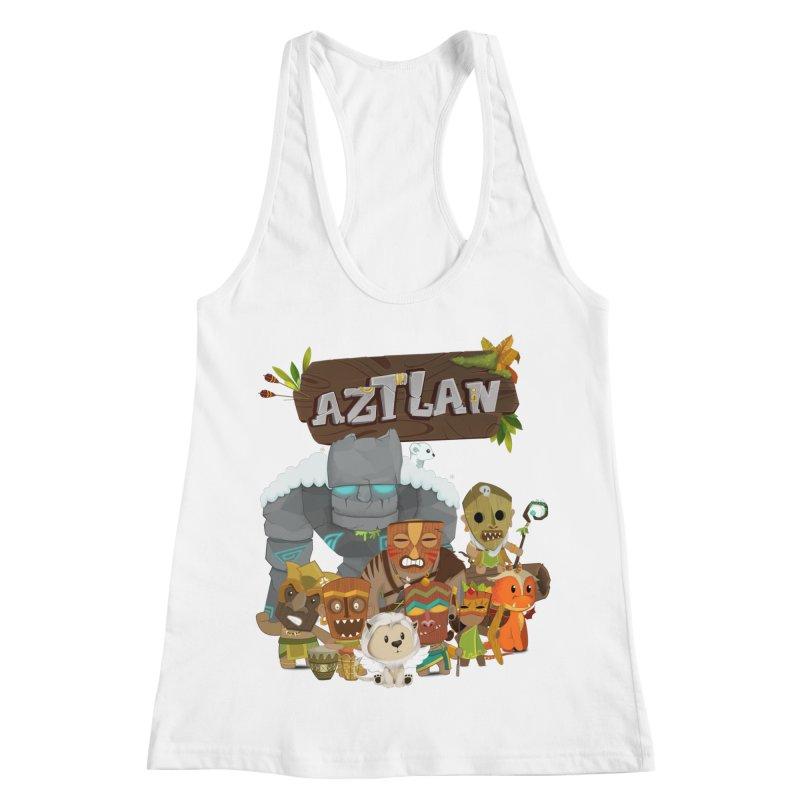 Aztlan - All Characters Women's Racerback Tank by Mimundogames's Artist Shop