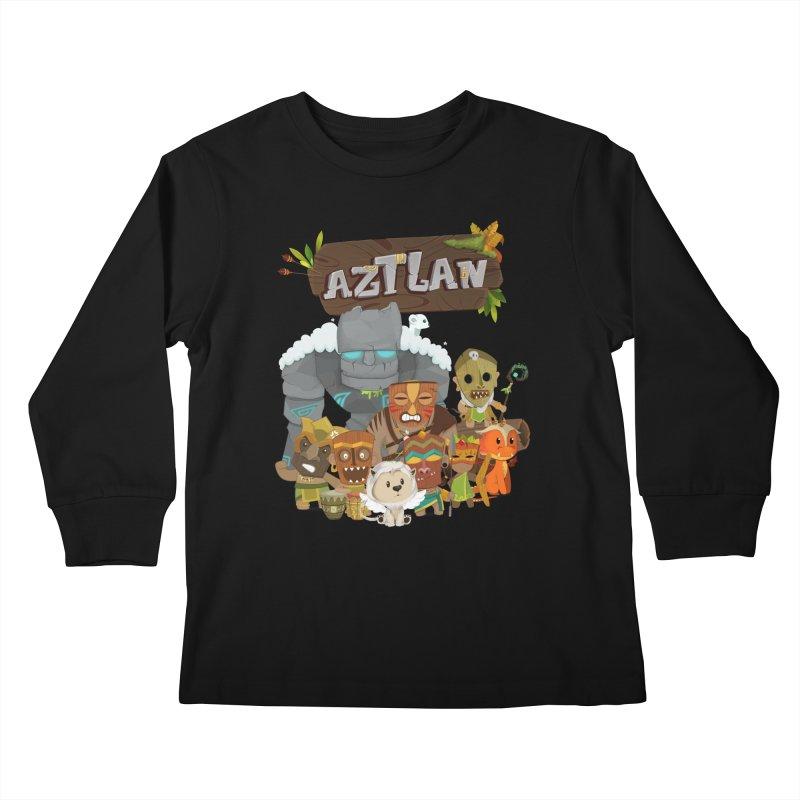 Aztlan - All Characters Kids Longsleeve T-Shirt by Mimundogames's Artist Shop