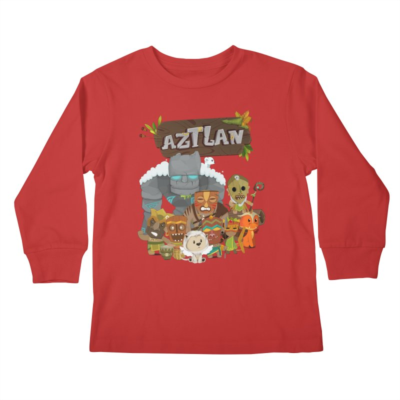 Aztlan - All Characters Kids Longsleeve T-Shirt by Mimundogames's Artist Shop