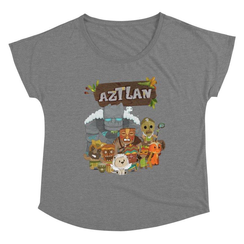 Aztlan - All Characters Women's Scoop Neck by Mimundogames's Artist Shop