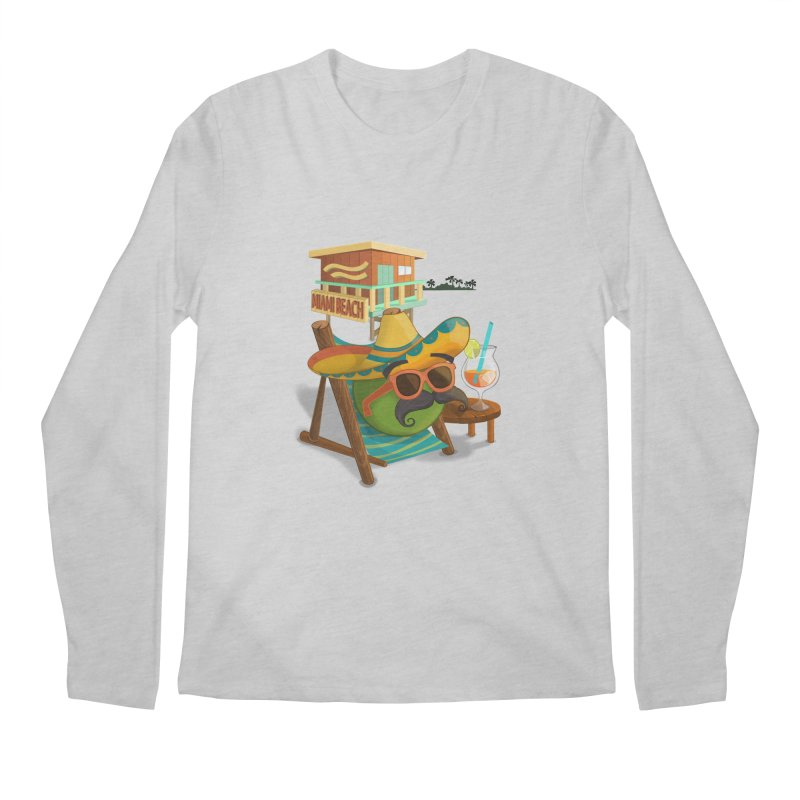 Juan at Miami Beach Men's Longsleeve T-Shirt by Mimundogames's Artist Shop