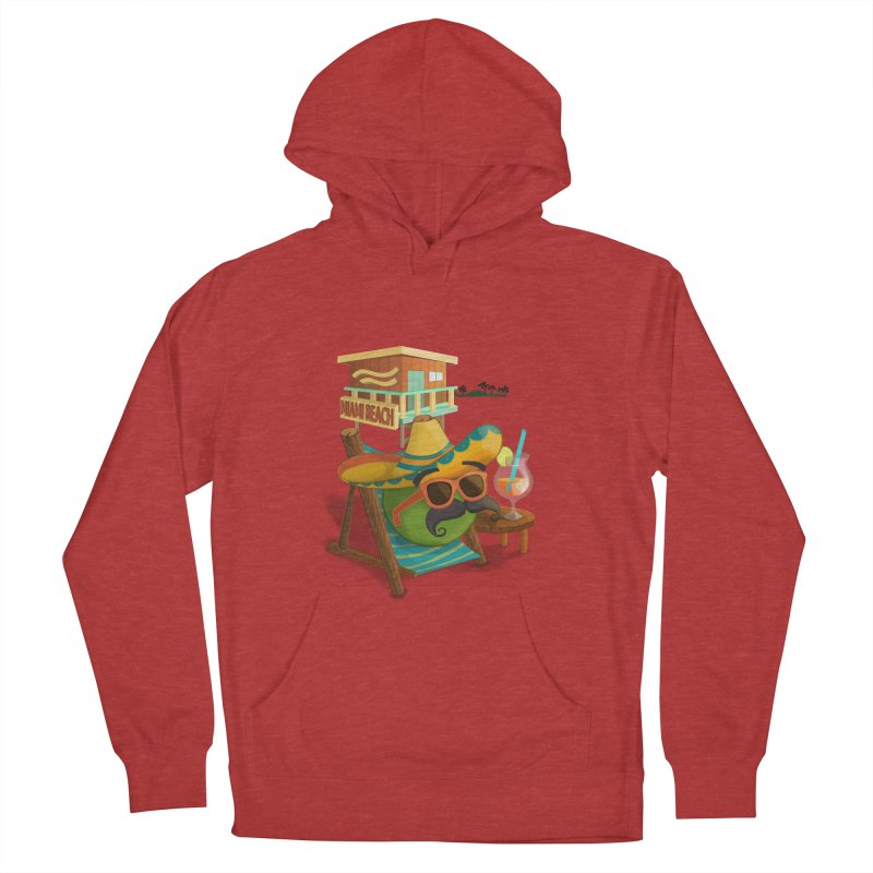 Juan at Miami Beach Men's French Terry Pullover Hoody by Mimundogames's Artist Shop