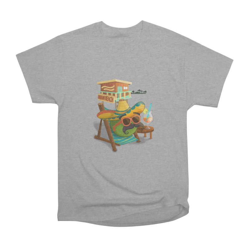 Juan at Miami Beach Men's Heavyweight T-Shirt by Mimundogames's Artist Shop