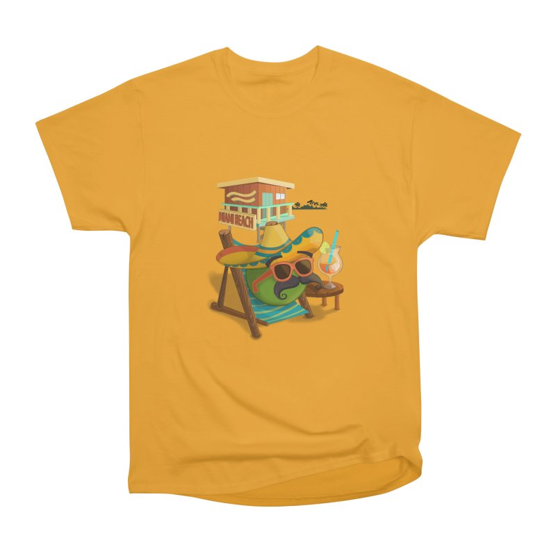 Juan at Miami Beach Women's Heavyweight Unisex T-Shirt by Mimundogames's Artist Shop