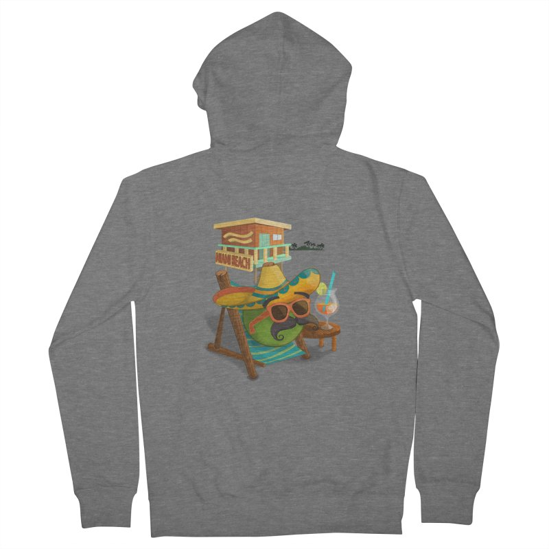 Juan at Miami Beach Women's Zip-Up Hoody by Mimundogames's Artist Shop