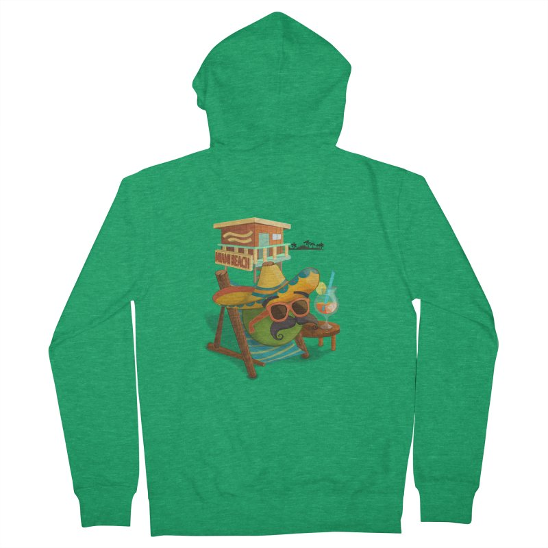 Juan at Miami Beach Men's Zip-Up Hoody by Mimundogames's Artist Shop