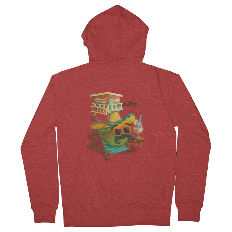 Juan at Miami Beach Men's French Terry Zip-Up Hoody by Mimundogames's Artist Shop