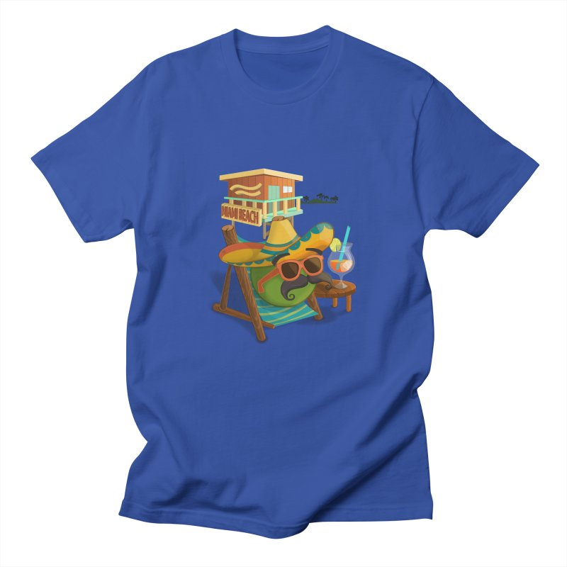 Juan at Miami Beach Men's Regular T-Shirt by Mimundogames's Artist Shop