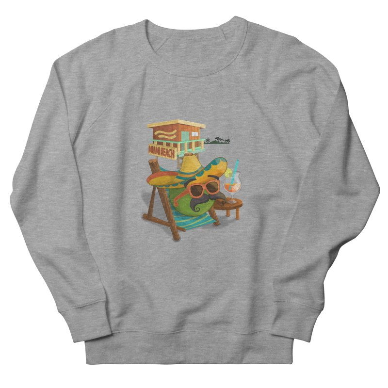 Juan at Miami Beach Women's French Terry Sweatshirt by Mimundogames's Artist Shop