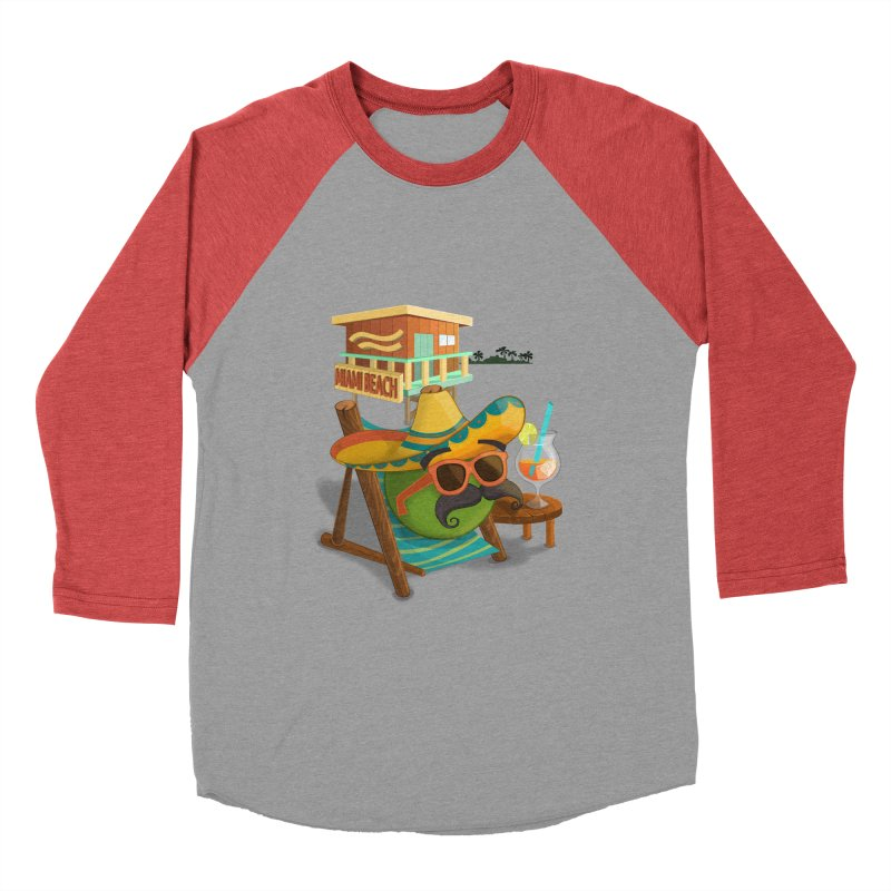 Juan at Miami Beach Women's Baseball Triblend Longsleeve T-Shirt by Mimundogames's Artist Shop