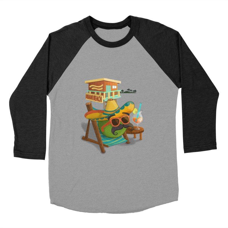 Juan at Miami Beach Women's Baseball Triblend Longsleeve T-Shirt by Mimundogames's Artist Shop