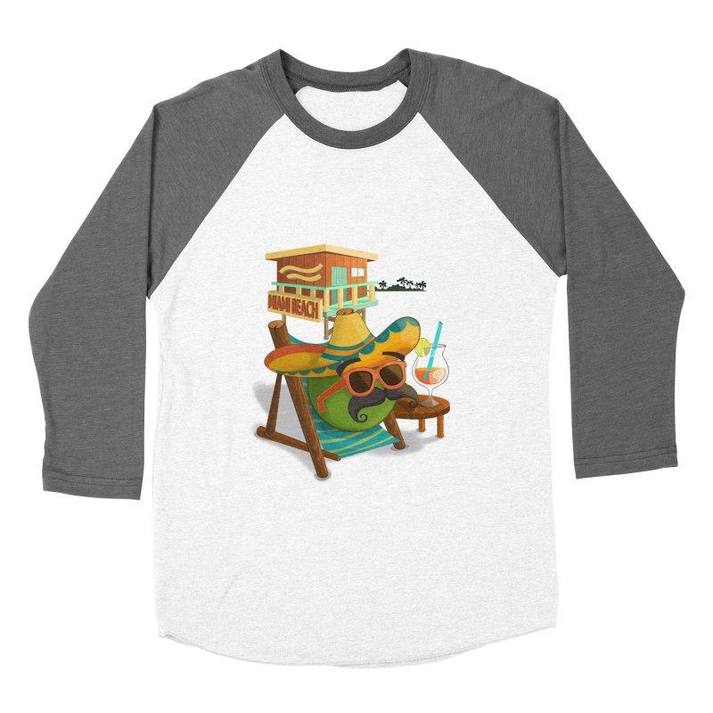 Juan at Miami Beach Men's Baseball Triblend Longsleeve T-Shirt by Mimundogames's Artist Shop