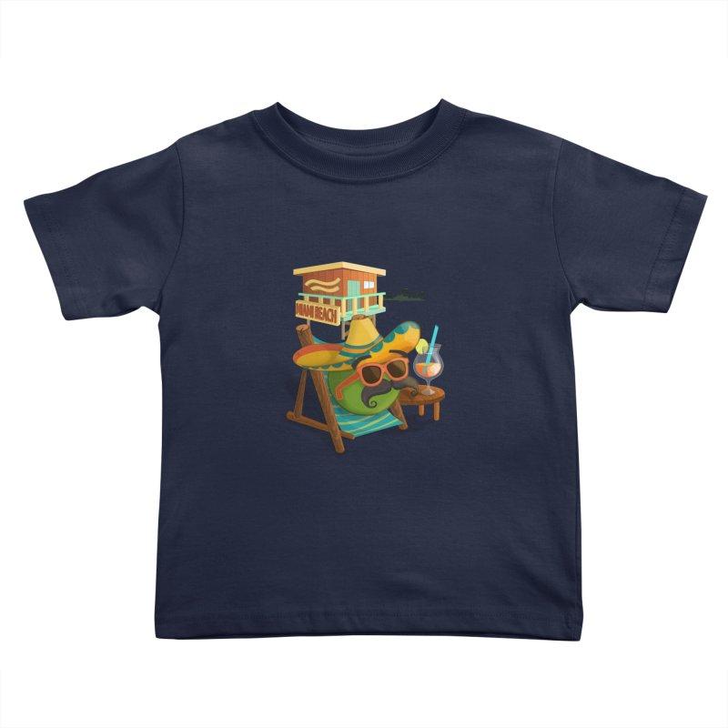 Juan at Miami Beach Kids Toddler T-Shirt by Mimundogames's Artist Shop